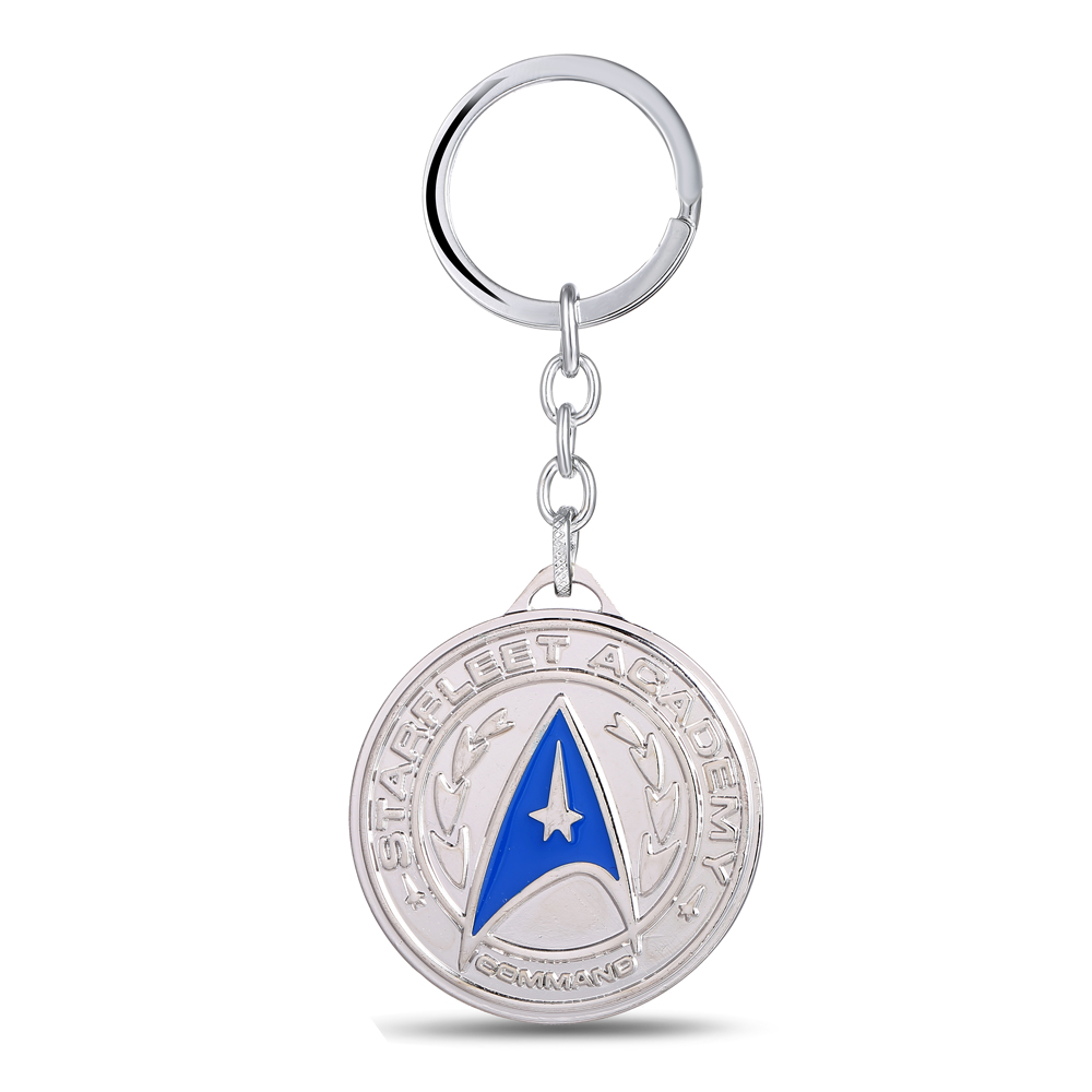 MS JEWELS Movie Jewelry Gifts Silver Plated Star Trek Keychain Metal Key Rings For Gift Key Chain Jewelry Fans