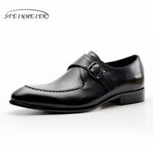 Mens formal shoes leather men dress oxford shoes for men dressing wedding business office shoes buckle male zapatos de hombre
