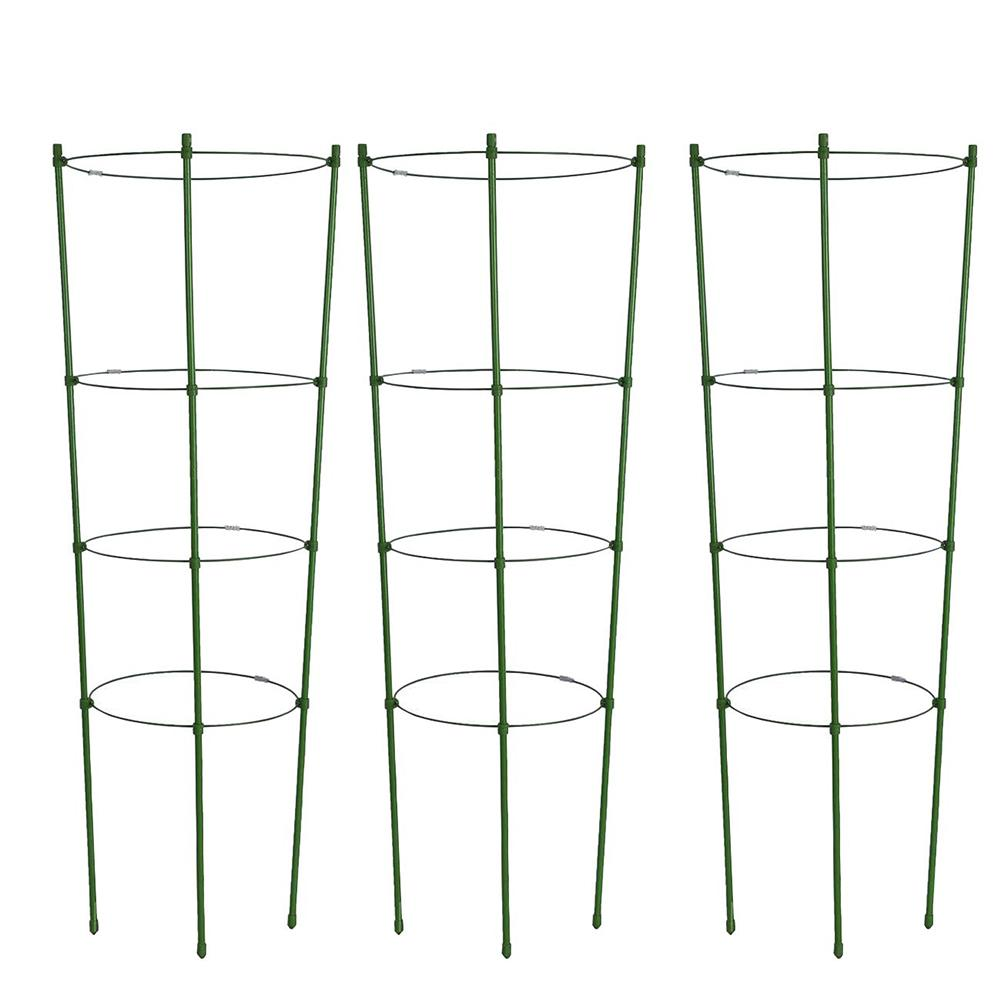 HOT! Durable Climbing Plant Support Cage Garden Trellis Flowers Tomato Stand With 3 Rings Gardening Tool Tomato Cage 45CM-90CM