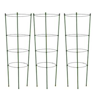 Tomato-Stand Flowers Climbing-Plant-Support-Cage Gardening-Tool with 3-Rings Cage-45cm-90cm