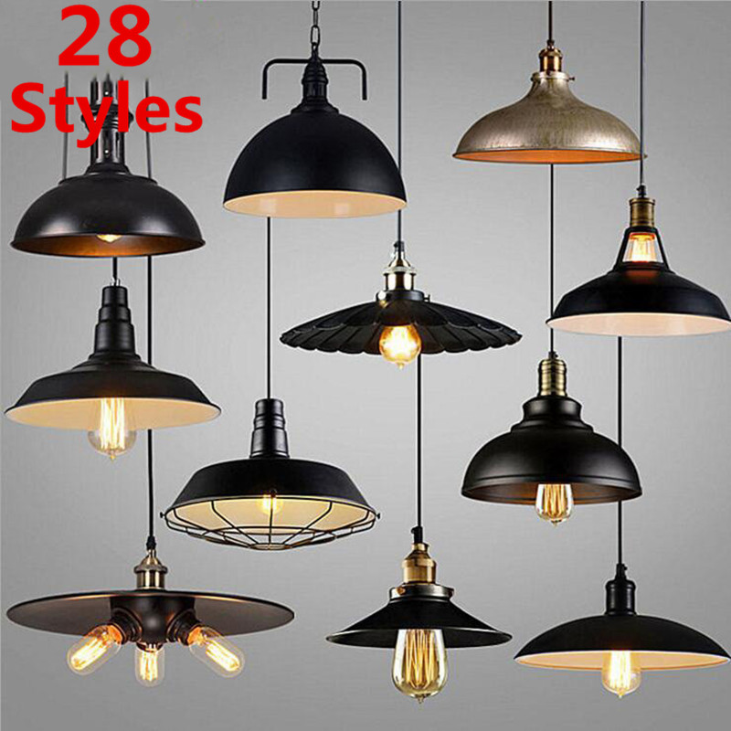 28 Styles Loft Vintage Pendant Light Nordic Industrial