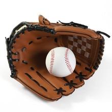 Уличные спортивные Бейсбольные Перчатки коричневые ПУ износостойкие прочные тренировочные спортивные перчатки для Софтбола мужские подростковые Детские переносная перчатка