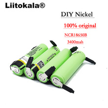 Liitokala 100% New Original NCR18650B 3.7 v 3400 mah 18650 Rechargeable Lithium Battery Nickel batteries DIY Sheet