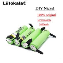 Liitokala 100% New Original NCR18650B 3.7 v 3400 mah 18650 Rechargeable Lithium Battery Nickel batteries DIY Sheet