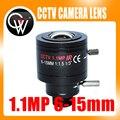 Nueva 1.1MP CÁMARA 6-15mm Varifocal lente M12 Iris Fijo CCTV Cámara de Infrarrojos Zoom Lente Del Tablero para cctv CÁMARA IP