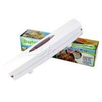 Kitchen Gadgets Plastic Wrap Dispenser Cutter Food Storage Holder Blade Cutter Free Shipping Y102
