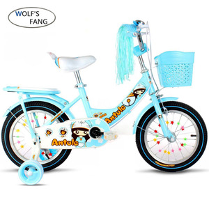 Image 3 - Wolfs fang  Childs Bike Cycling Kids Bicycle With Safety Protective Steel 12/14/16/18 inch Children Bikes Free shipping girls