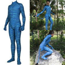 Adult Kids Avatar 2 Na'vi Cosplay Costume Zentai Bodysuit Suit Jumpsuits