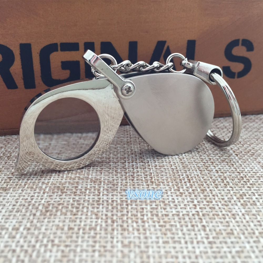 2 Pcs Of 6x 20mm Keychain Magnifier Folding Portable
