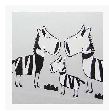 1 Stks Kawaii Zebra Afdrukken Cortinas De Bano 3 Maten Creative Dikke Peva Douchegordijn Waterdicht Bad Schermen Vouwen Doek