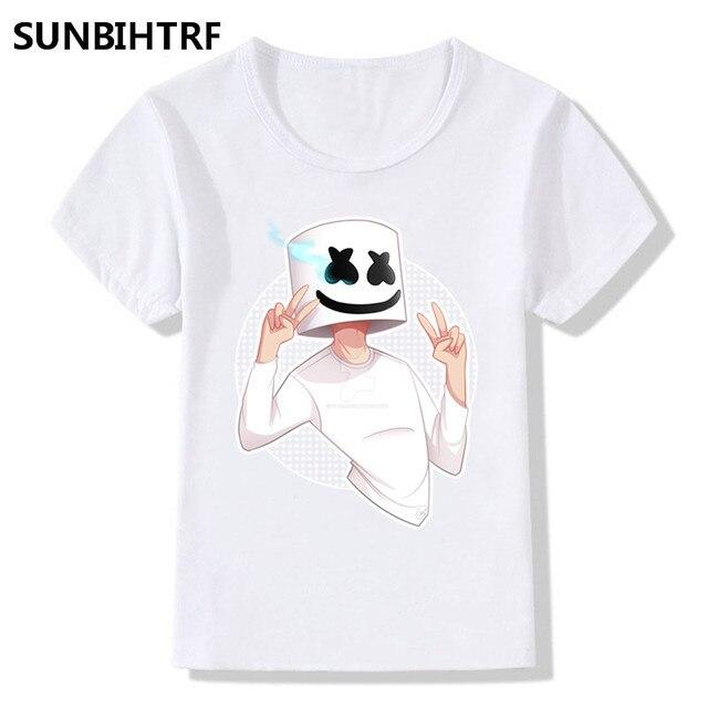 children cartoon dabbing dj marshmello print funny t shirt big boys