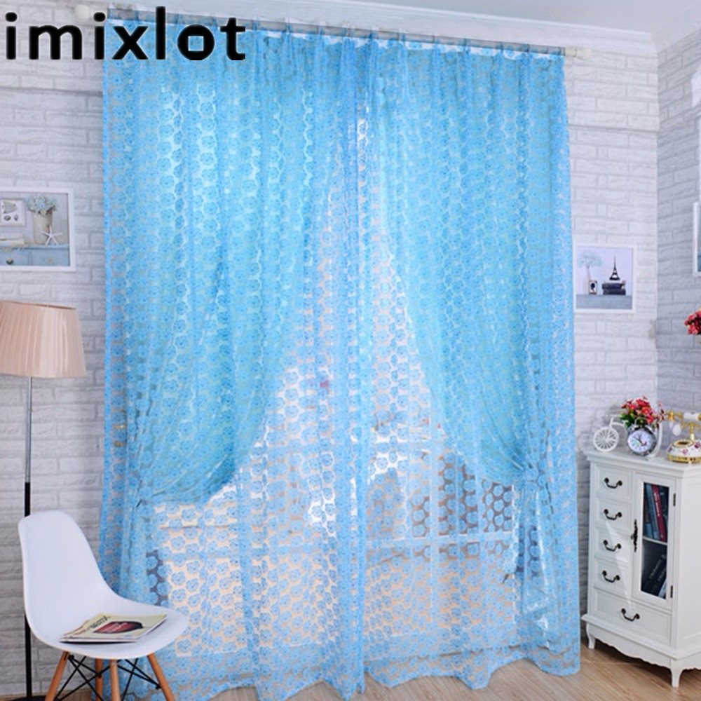 Imixlot Cloth Printing Rose Flower Curtains Screens Bay
