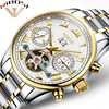 NIBOSI Mechanical Watches For Men Waterproof Men Watch Full Steel 12 Month Display Luxury Lrand Automatic