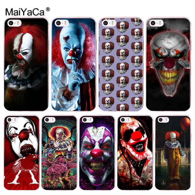 MaiYaCa Pennywise The Clown Horror Newest Super Cute Phone Cases for Apple iPhone 8 7 6 6S Plus