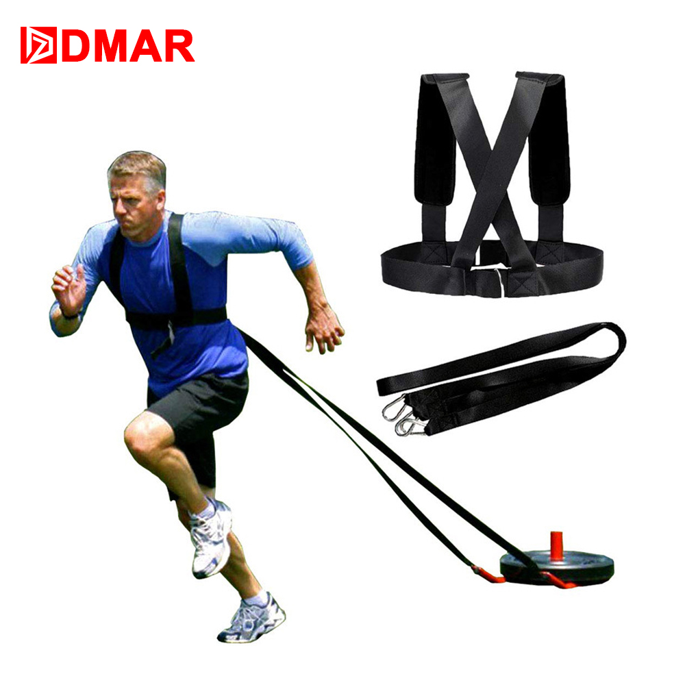 Dmar Speed Running Sled Shoulder Weight Training Straps Power Strength Harness Resistance Trainer Fitness Equipment Orologi E Gioielli