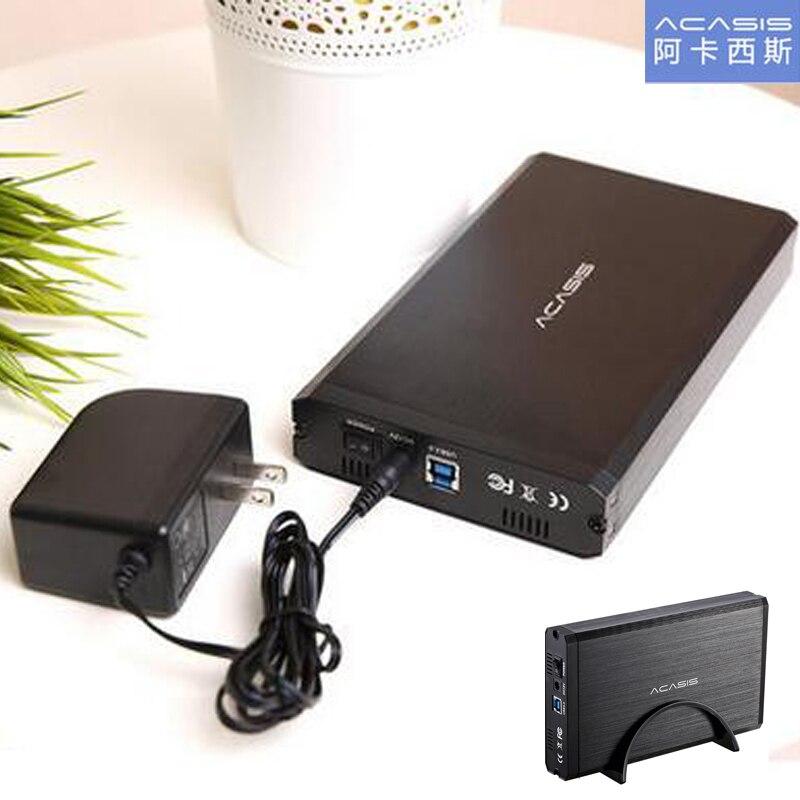 ACASIS BA-06US USB 3.0 HDD boîtier Support 6 to SATA Interface 3.5 pouces boîtier de disque dur boîtier de disque dur Mobile en alliage d'aluminium