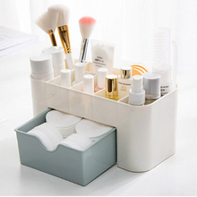 Plastic Multifunctional Desktop Organizer Drawer Jewelry Case Cosmetics Cotton Swabs Holder Makeup Storage Box