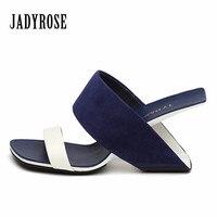 Jady Rose 2018 Nuevas Mujeres Sandalias de Tacón Strange Stiletto Verano Zapatillas De Tacón Alto Gladiador Sandalia Zapatos de Cuña Mujer Beach Diapositivas