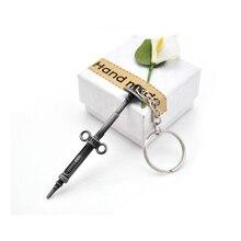 цены Pop Gun Custom PUBG Keychain Men Jedi Sword Anime Key Chain Ring Holder Game Banner Car Keyring Jewelry Creative Gift Souvenir