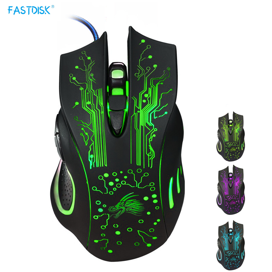 3200DPI LED Optisk 6D USB Wired Gaming Game Mouse Pro Gamer Computer Mus til PC Høj kvalitet