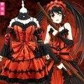 Anime DATE A LIVE Tokisaki Kurumi Cosplay Costume Tokisaki Kurumi dress Halloween cosplay costume send socks