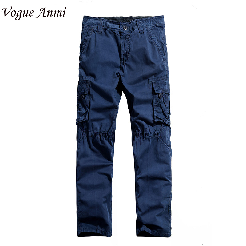 mens cargo Pants millitary clothing Pants Military cotton Men straight army style workwear Trousers 30-40