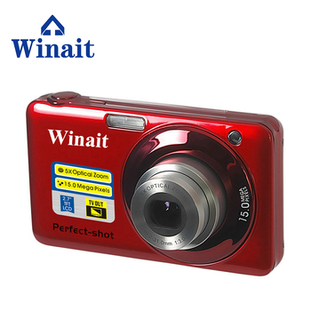 Free shipping WINAIT  max 20mp digital camera DC-V600  8x optical zoom, 4x digital zoom with  2.7'' TFT display