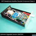 Headphone Amplifier Discrete Component Pure HIFI Class A Amp Lehmann Upgraded Version Plastic-sealing  LM47910