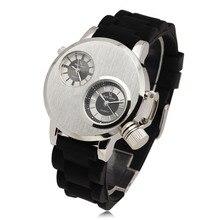 Новая мода V6 кварцевые часы Для мужчин Наручные часы Gusseisen случае двойной кварц двигаться Для мужчин ts 2 набирает Спорт кремния ремешок Военные часы подарок