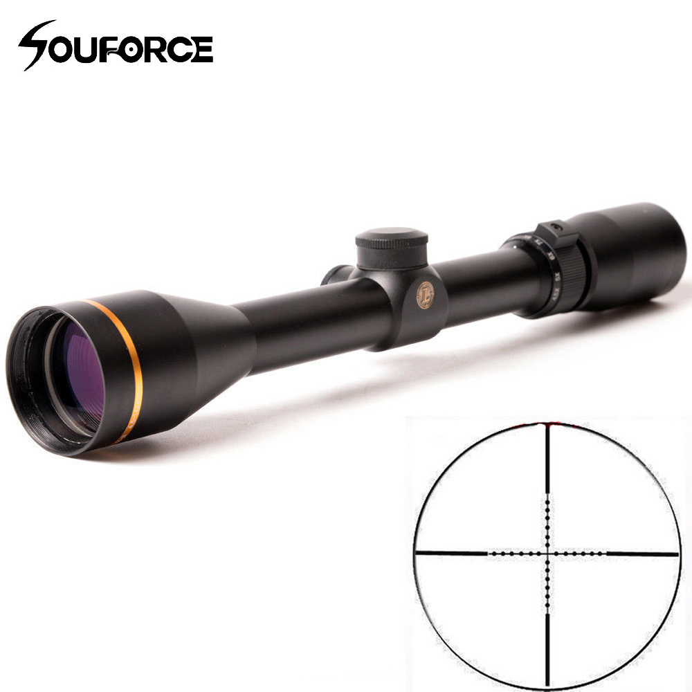 US HD 4 5 14X50mm Rifle Scope Sight Glass Mil Dot Duplex Reticle With Mounts Hunting