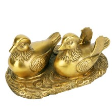 Pure Copper Mandarin Duck Water Ornaments Wedding Gifts Marriage Bedroom Living Room Home Decorations