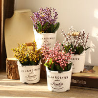 American Creative Small Flower Pot Simulation Potted Home Bedroom Decoration Window Props Desktop Decoration