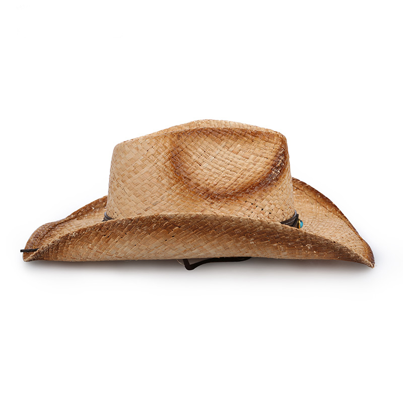 40119f9e Sedancasesa 2019 New Fashion Mens Hats Raffia straw Metal Decoration Cowboy  Hats for Men Summer Sun Hat Visors Cap Sombreros-in Sun Hats from Apparel  ...
