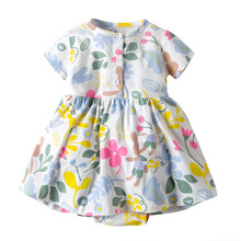Newborn Costume Girls Dresses Ruffle Flower Romper Dress Baby Princess Kids Party Cotton Cute Animals Clothes