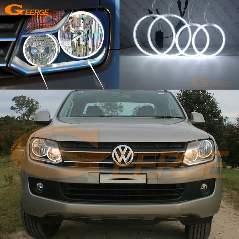 цена на For Volkswagen VW Amarok 2011 2012 2013 2014 Excellent Angel Eyes Ultra bright illumination ccfl angel eyes kit Halo Ring