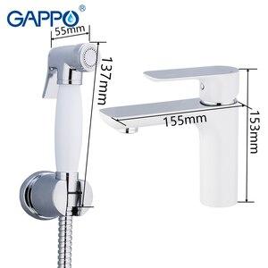 Image 2 - Смеситель для биде GAPPO, латунный кран для ванной комнаты, биде, туалета, хромированный, зеркальный