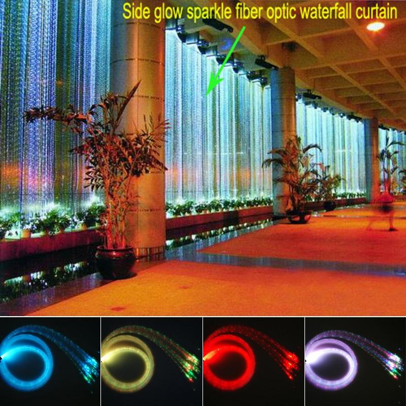 16W RGBW sparkle Fiber Optic sensory kit lights 300pcs flash point 3Meters waterfall Curtain sensory light