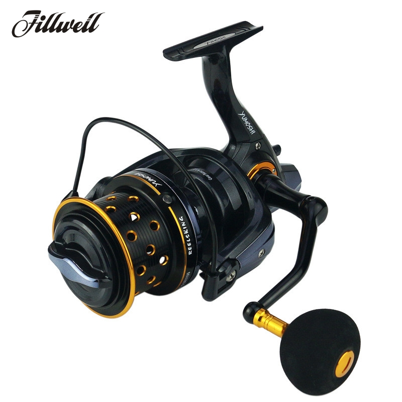 Full metal spool trolling fishing reel long shot casting for carp and salt water surf spinning reel TK9000/10000 series yumoshi 10000 size metal spool jigging trolling long shot casting for carp and salt water surf spinning big sea fishing reel