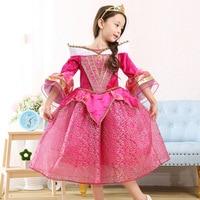 Girls Dress Halloween 2017 Kids Clothes Girls Long Sleeve Flare Sleeve Elo Cosplay Halloween Costume Princess