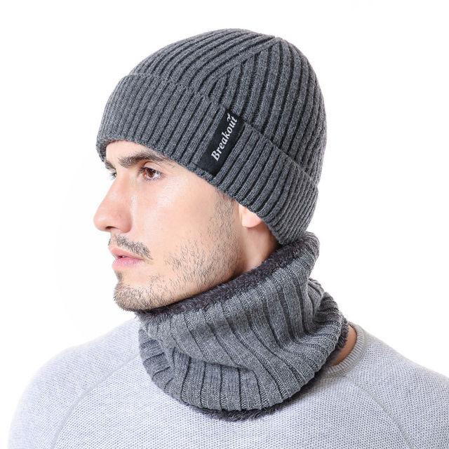 1eea272211b SANDMAN Breakout Striped Add Wool Winter Beanie Hat Scarf Beanies Soft Warm Cap  Mask Winter Hats