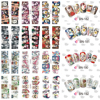 12 Sheets Cool Nail Art Full Cover Water Transfer Sticker Decals Halloween Skull Design Stickers Wraps Tips Decoration BN181-192