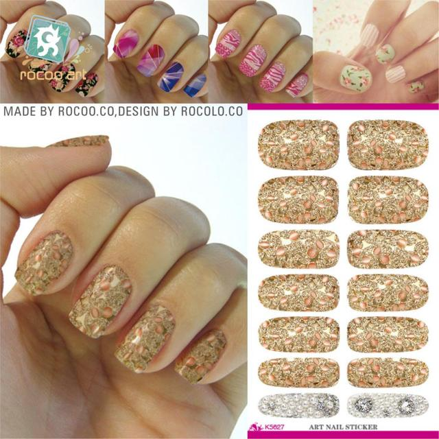 New Arrival Water Transfer Nail Art Stickers Metallic Petals Gem Lines Decal Manicure Decorations Foil