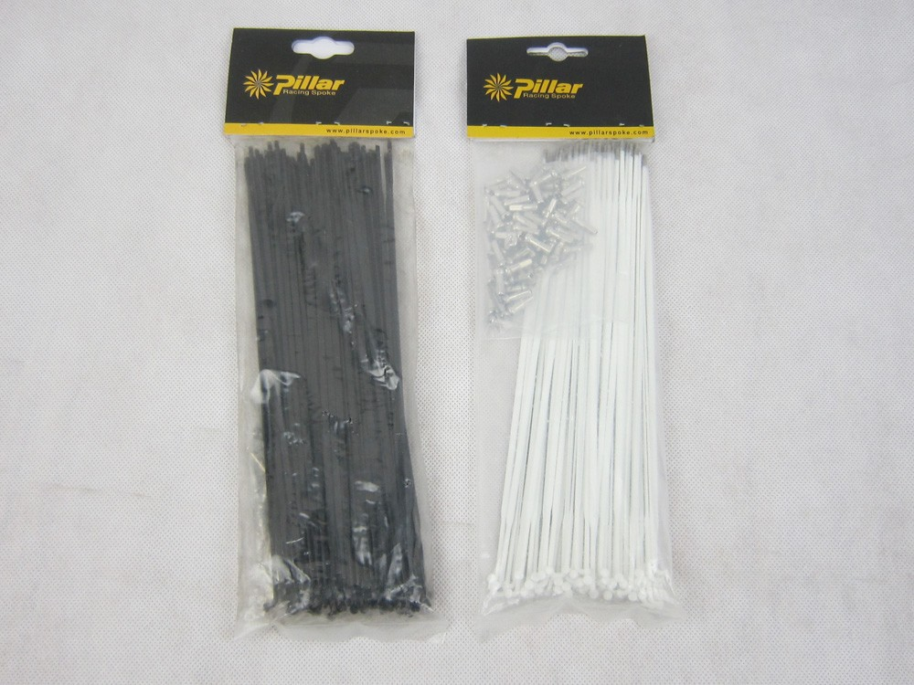 Pillar PSR 1432 Aero Black Stainless Steel Bike Spokes Or Mac CN494 Straight Pull Bladed Spoke/J Bend /J Hook Flat Spokes