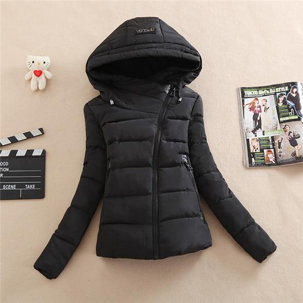 winter jacket women 2016 Fashion Parkas Female Wadded Jacket Slim Short Cotton-Padded Hooded Winter Coat women Plus size