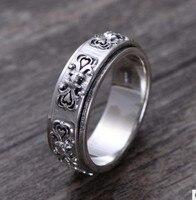 100% 925 silver mens rings ring man free shiping