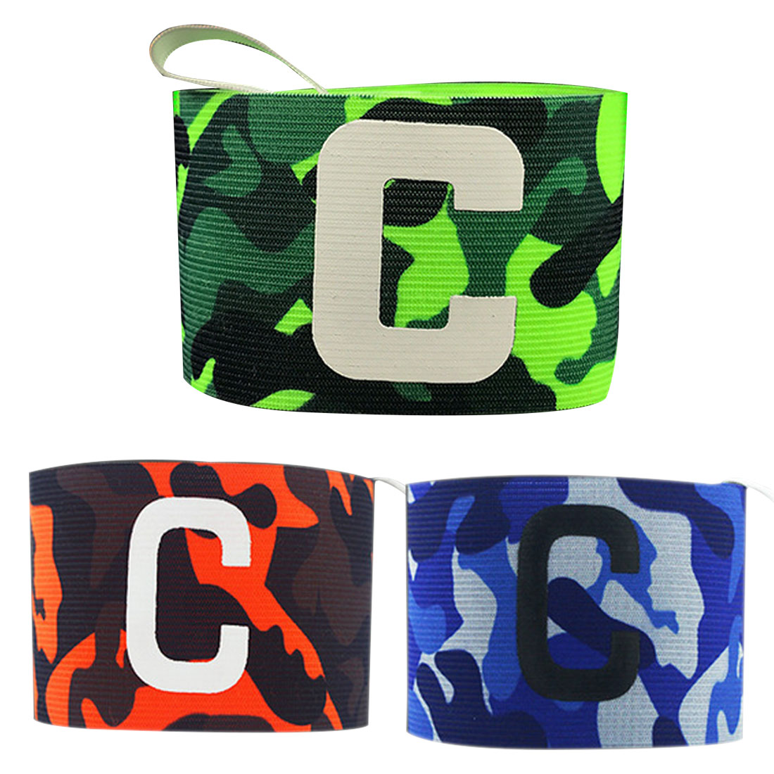 Camouflage Print Breathable Nylon Football Soccer Adjustable Elastic Captain Armband Elbow Exercise Futbol Health Care