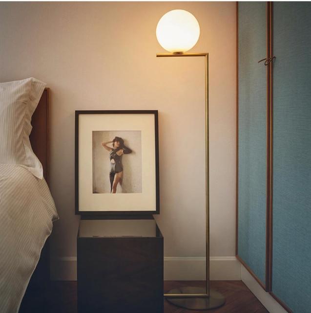 Modern LED Floor Lamp Light Moon Glass Floor Lamp Light Office ...