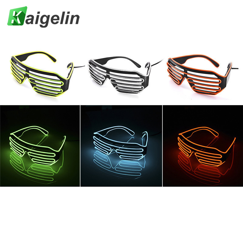 New Fashion EL Wire LED Glasses Neon LED Flash Light Activing Props LED Fluorescence Glasses For Bar DJ Disco Dance Rave Party