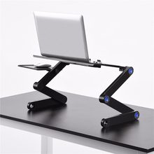 Computer Laptop Two Fan Desks Portable Adjustable Foldable Laptop Notebook Lap PC Folding Desk Table Vented Stand Bed Tray Metal(China)