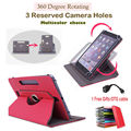 For ASUS MeMO Pad FHD 10 ME302KL LTE/ME302C 10.1 inch 360Degree Rotating Universal Tablet PU Leather cover case Free Gift